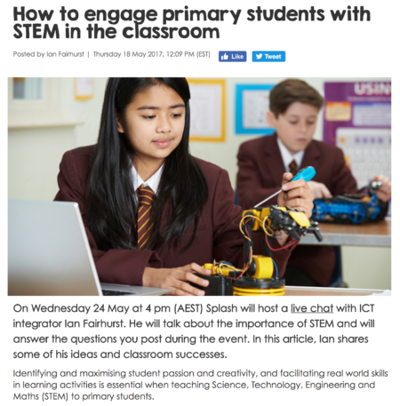 How to engage primary students with STEM